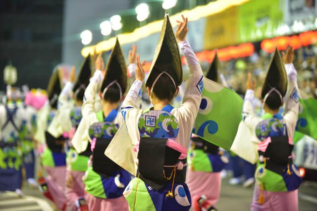 tokushima awa odori dance activities in Japanese summer