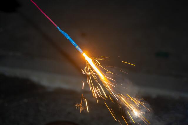 japanese sparkler firecracker in summer